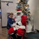 Santa and children.