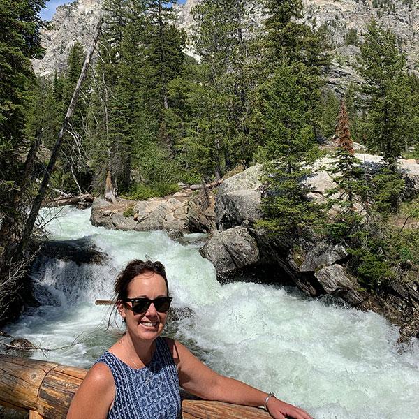 Cara Walsh by waterfall