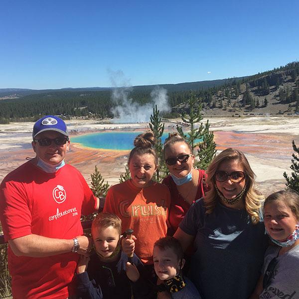 Joshua Smith and family in Yellowstone