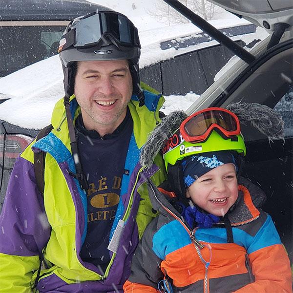 Dan Flynn in ski gear